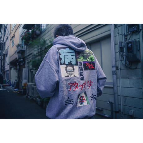 LONELY論理 四國論理 HOODIE (Ash)