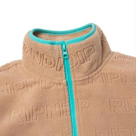 RIPNDIP REPEAT BRUSHED FLEECE 3/4 ZIP SWEATER (NATURAL)