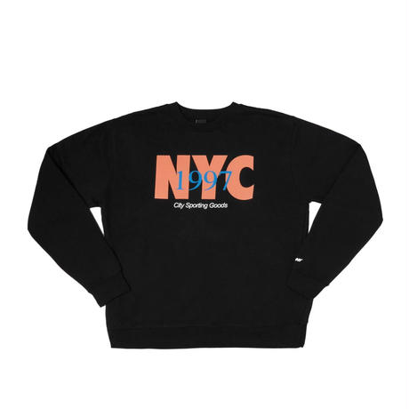 Only NY.  NYC Track Crewneck (Ash, Black)