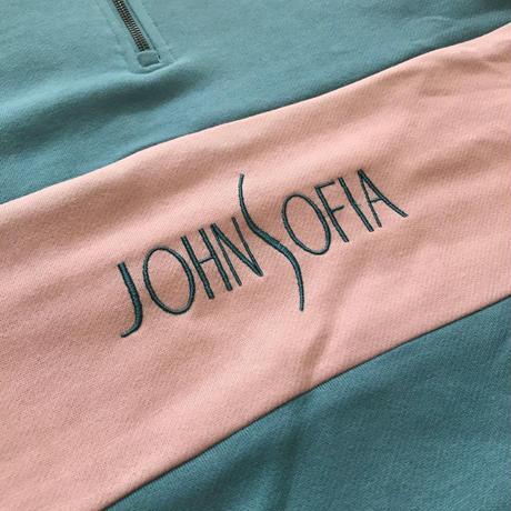 JOHN SOFIA Half Zip Sweat (Blue)