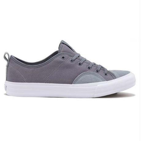 STATE FOOTWEAR HARLEM (MID GREY/WHITE CANVAS/SUEDE)