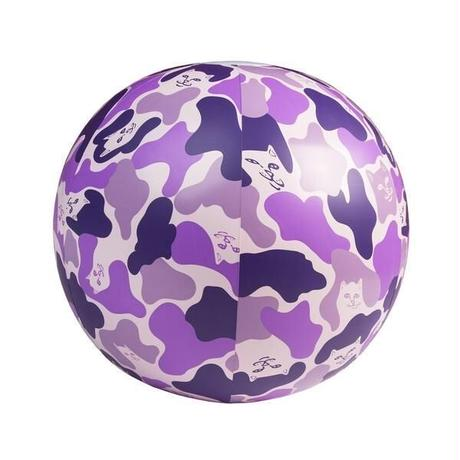 RIPNDIP CAMO BEACH BALL (PURPLE)