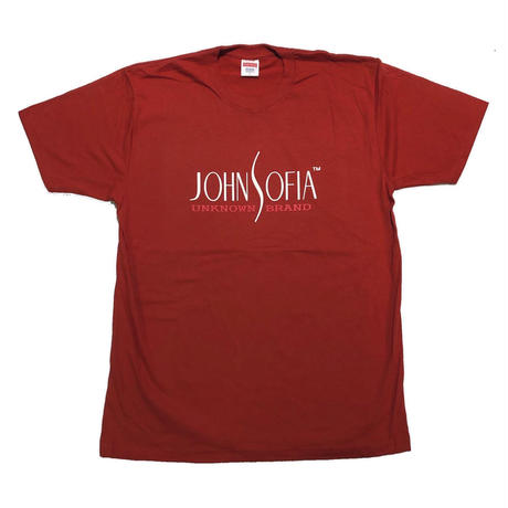 JOHN SOFIA  LOGO TEE (DARK ORANGE)