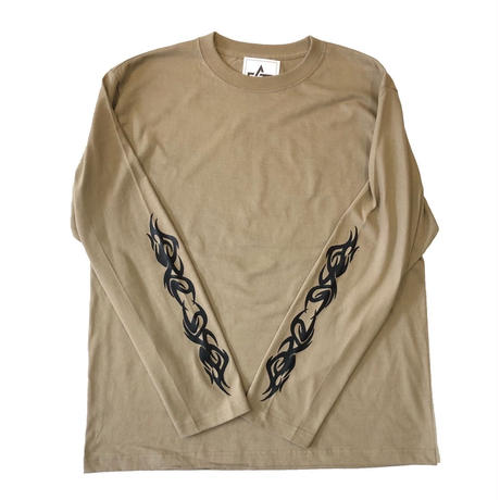 ATTACK ORIGINAL AS TRIBAL L/S T-SHIRT (SAND, CHARCOAL, WHITE)