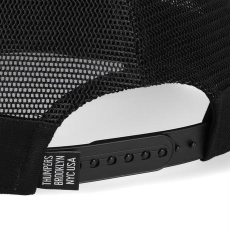 THUMPERS NYC PATCH LOGO MESH CAP (ORANGE, BLACK)