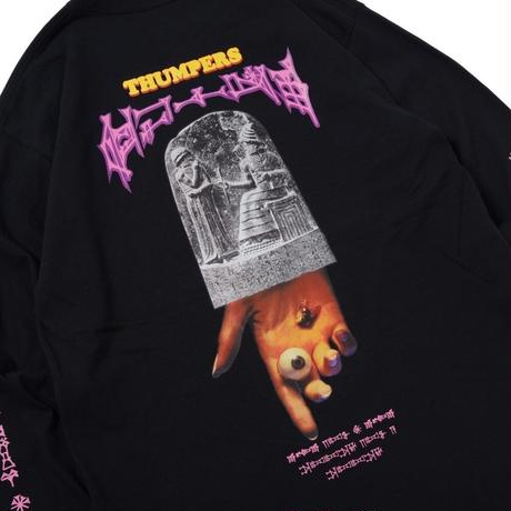 THUMPERS NYC HAMMURABI HEAVY WEIGHT L/S TEE (BLACK)
