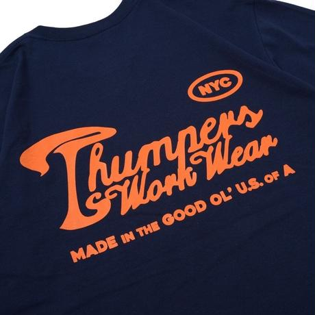 THUMPERS NYC  WORK LABEL HEAVYWEIGHT TEE (NAVY)