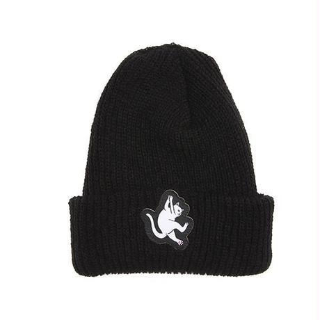 RIPNDIP HANG IN THERE RIBBED BEANIE (BLACK)