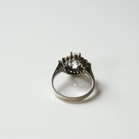 シルバー925 オーバルジルコニア アールデコ リング指輪 / ヴィンテージジュエリー・アクセサリー