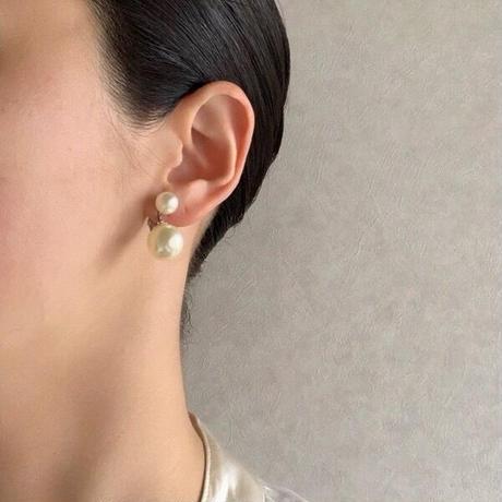 Special price【スペシャル プライス】MARVELLAマーベラ  シンプル パール イヤリング/ ヴィンテージ・コスチュームジュエリー