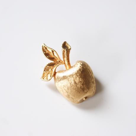 AVONエイボン りんご ゴールド ミニ ブローチ箱BOX付き / ヴィンテージ・コスチュームジュエリー