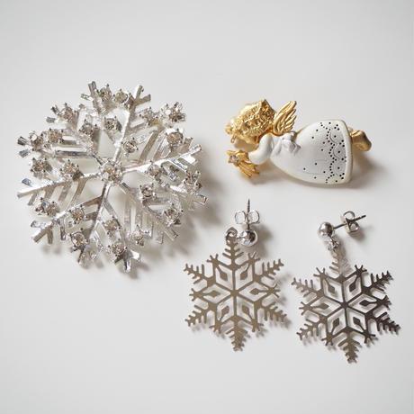Special price【スペシャル プライス】 雪の結晶 スノーフレーク シルバー ブローチ  / ヴィンテージアクセサリー