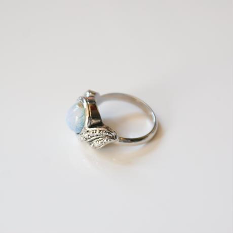 【New Vintage Stock】AVONエイボン オパールルーサイト シルバー 指輪リング / ヴィンテージ・コスチュームジュエリー