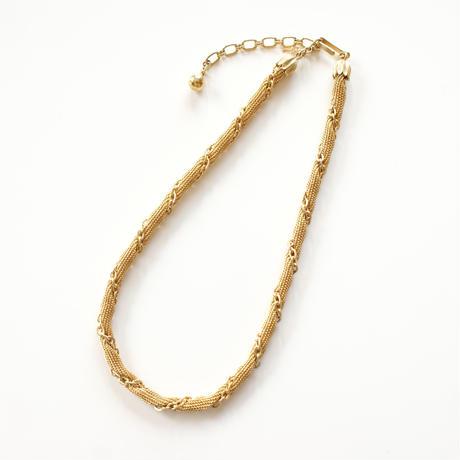 TRIFARIトリファリ スズラン メッシュ チェーン ゴールド ネックレス / ヴィンテージ・コスチュームジュエリー