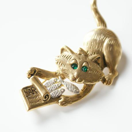 DANECRAFTダンクラフト 猫 キャットブローチ  / ヴィンテージ・コスチュームジュエリー