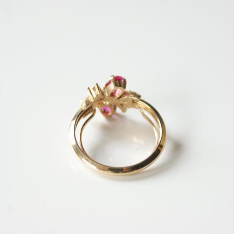 AVONエイボン ルビー ピンク ラインストーン リング / ヴィンテージジュエリー・アクセサリー