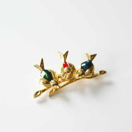 Special price【スペシャル プライス】 3バード マルチカラーエナメル 小鳥ブローチ / ヴィンテージ・コスチュームジュエリー