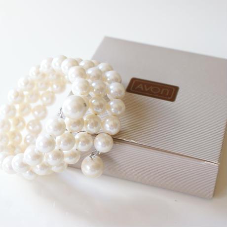 AVON エイボン パール バングル ブレスレット箱BOX付き / ヴィンテージジュエリー・アクセサリー