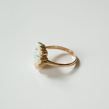 K18YG  オパール フラワー リング指輪 / ヴィンテージジュエリー・アクセサリー