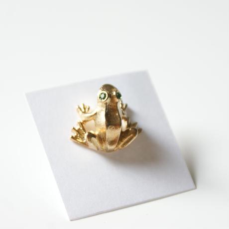 Special price【スペシャル プライス】AVONエイボン カエル ミニ ピン ブローチ 箱BOX付き/ ヴィンテージジュエリー・アクセサリー