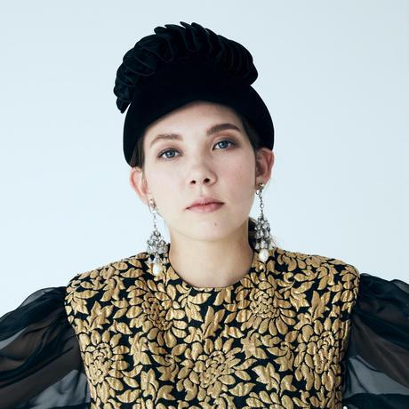 NINA RICCIニナリッチ ゴールドジャガード織り ワンピース ドレス / ヴィンテージ レディース ファッション