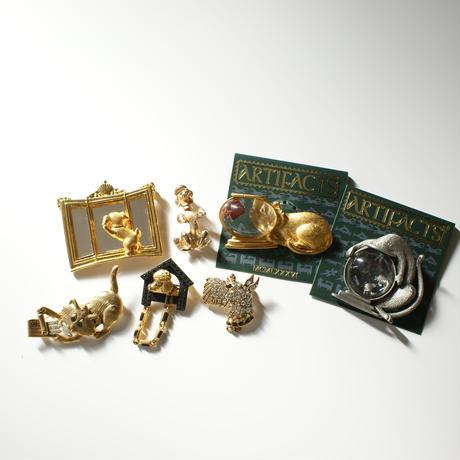 SARAH COVENTRYサラ・コベントリー ゴールド プードル犬 シンプル ブローチ  / ヴィンテージ・コスチュームジュエリー