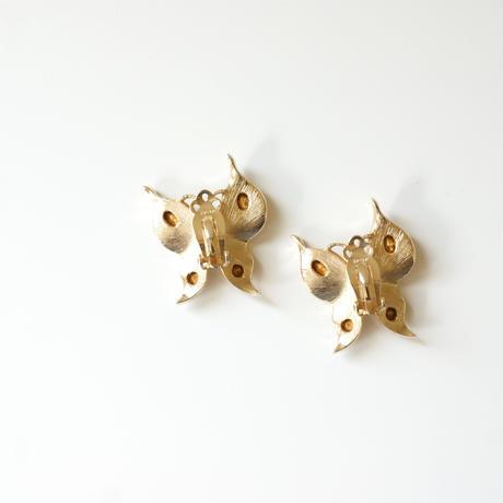 TRIFARIクラウントリファリ アルフレッド・フィリップ バタフライ 蝶 イヤリング / ヴィンテージコスチュームジュエリー