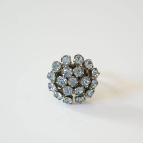 Special price【スペシャルプライス】ブルー ラインストーン サークル 指輪リング / ヴィンテージジュエリー・アクセサリー
