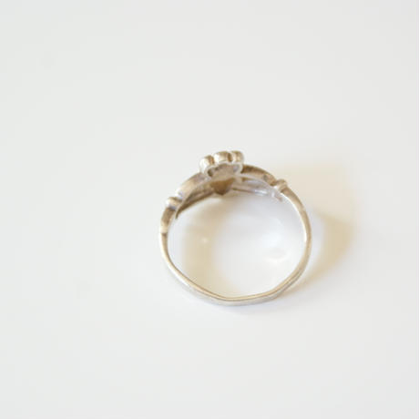 SLV925 マザーオブパール ハート 指輪 クラダリング / ヴィンテージジュエリー・アクセサリー