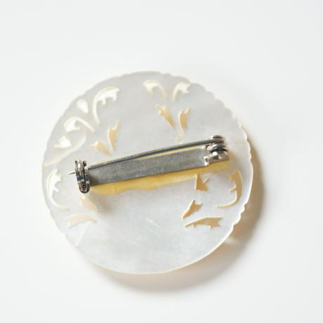 ベツレヘムパール 鳩 シェル マザーオブパール ブローチ / ヴィンテージ・アンティークジュエリー