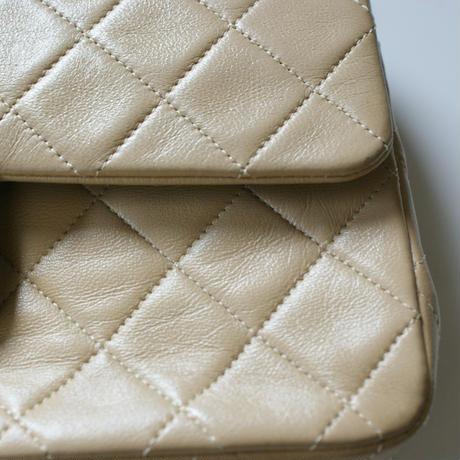 CHANELシャネル マトラッセベージュ 23 ダブルフラップ  箱BOX付 / ヴィンテージファッション