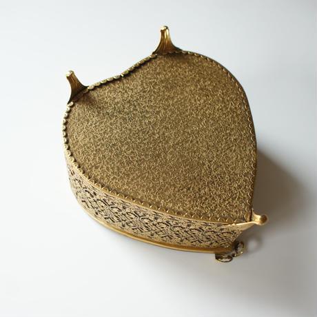 ヴィンテージ ジュエリーボックス ハート型 透かし / アンティーク雑貨