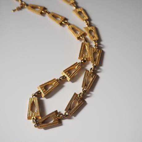 TRIFARIトリファリ シンプル ゴールド チェーン ネックレス / ヴィンテージ・コスチュームジュエリー