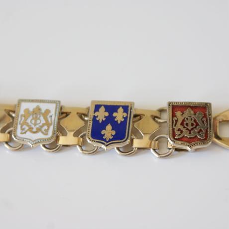 フルール・ド・リス ユリの紋章 エナメル ブレスレット/ ヴィンテージ・アンティークジュエリー