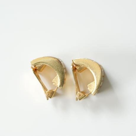 Christian Diorクリスチャン・ディオール アイボリー エナメル ストライプ イヤリング / ヴィンテージ・コスチュームジュエリー
