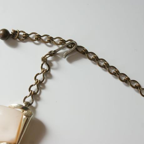 Special price【スペシャル プライス】H&Sアイボリールーサイトネックレス&イヤリングセット/ ヴィンテージ・コスチュームジュエリー