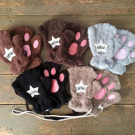 【セレクト加工】星ワッペン猫型手袋