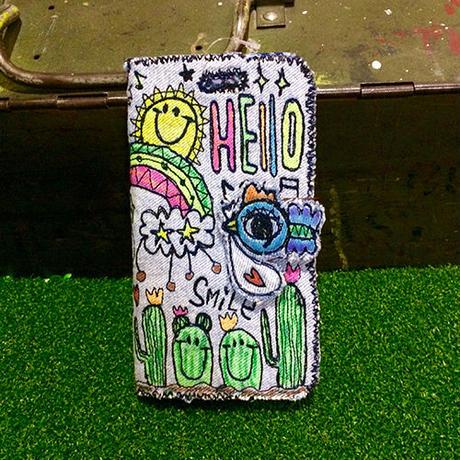 コウノトリ刺繍スマホケース(iPhone6Plus/6sPlus,7Plus/8Plus用)