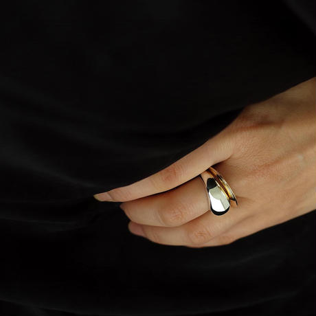 Orb ring silver