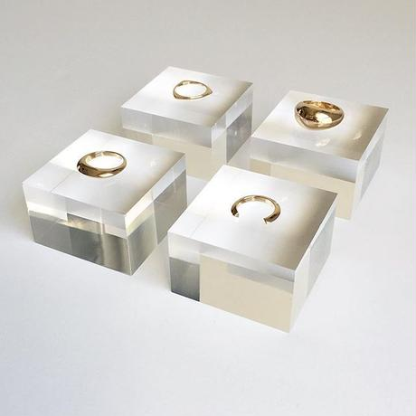 Orb ring in gold