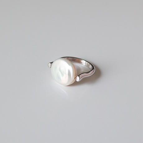 Flo coin ring (silver)
