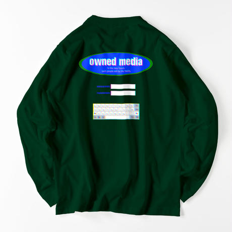 owned media L/S Tee(GRN)