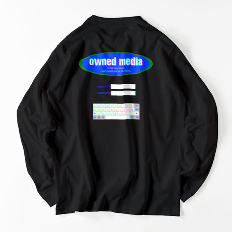 owned media L/S Tee(BLK)