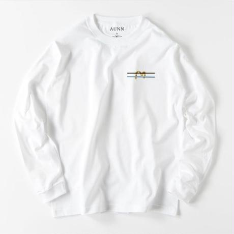 """WAVE"" Embroidery L/S Tee(WHT)"