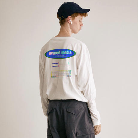 owned media L/S Tee(WHT)
