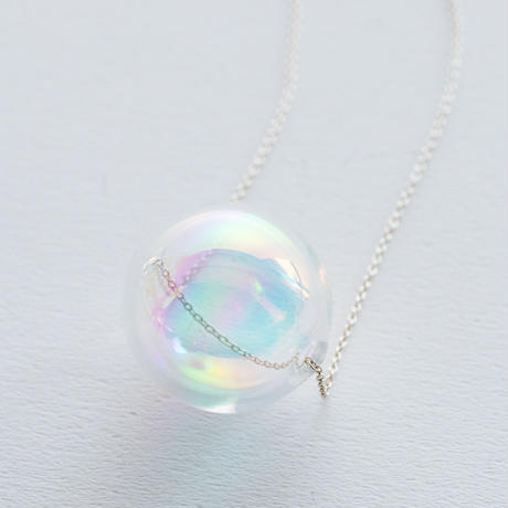 soap bubble necklace hologram /  20-n24