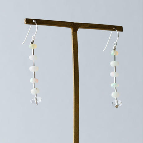 opal&glass pierce / 19-p65
