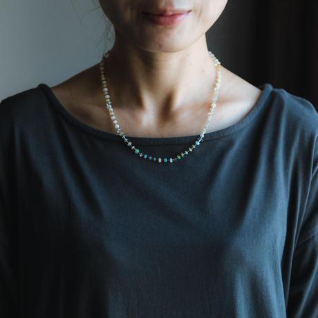 opal&glass neckless /  19-n22