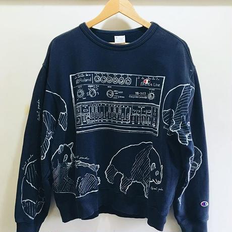 【on champion】OMA overdrawing sweatshirt 73  2top   TB-303 & Giant panda