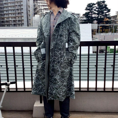 【on millitary】OMA overdrawing coat 02 satisfaction [panic animal]|オーバードローイングコート02「パニックアニマル」